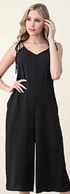 Vision Apparel JP074 Womens Sleeveless Gaucho Style Jumpsuit