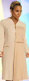 Just Vinci 16021 Zipper Front Dress With Novelty Trim Hardware