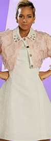 Just Vinci 16023 Princess Cut Dress & Novelty Textured Bolero Style Jacket