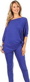 KarenT-5152 - Womens  Off Shoulder Design Top And Pant Set