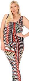 KarenT-9075-Multi - Sleeveless Womens Bodysuit