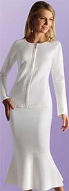 Kayla 5209 Two Piece Knit Church Suit With Flounce Hemline Skirt