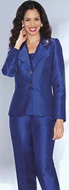 Clearance Lily and Taylor 2667 Two Piece Silky Twill Trouser Suit