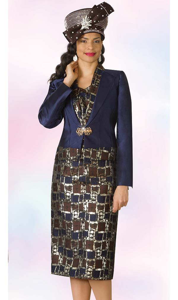 Lily and Taylor 4175 - Multi Print Novelty & Silky Twill Fabric Ladies Skirt Set