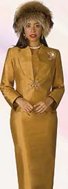 Clearance Lily and Taylor 4188 - Silk Shantung Fabric Church Outfit With Skirt