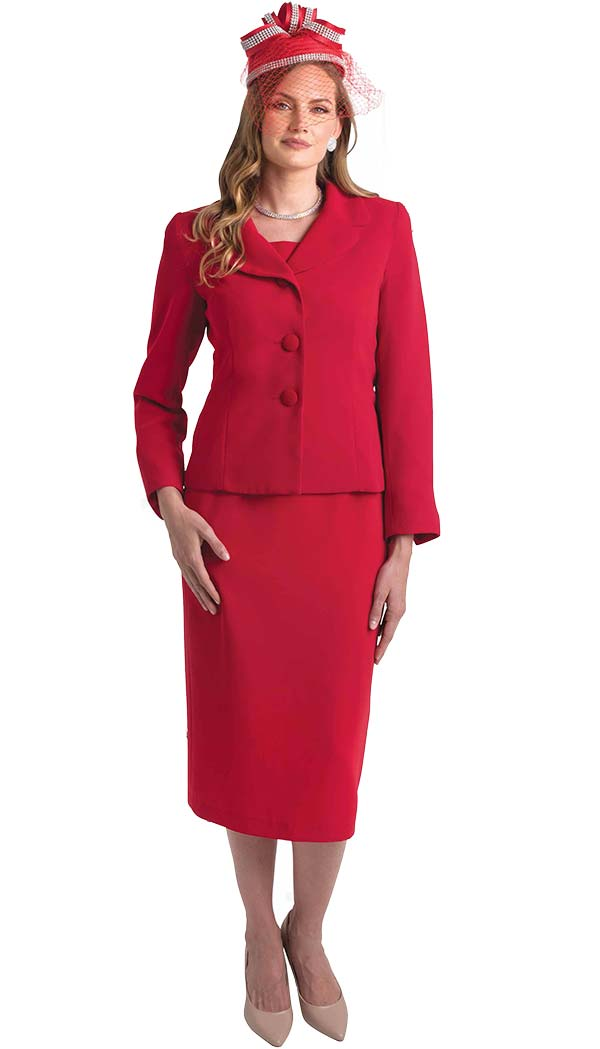 Lily and Taylor 4063 - Womens Two Piece Basic Skirt Suit With Notch Lapel