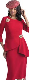 Lily and Taylor 4405 -  Womens Skirt Suit With Asymmetric Style Jacket
