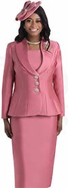 Lily and Taylor 4417-Mauve -  Womens Church Suit With Pointed Shawl Lapel