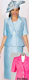 Lily and Taylor 3859 - Two Piece Skirt Suit With Short Sleeve Notch Lapel Jacket