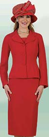 Lily and Taylor 4063 - Basic Skirt Suit With Rounded Lapel Jacket