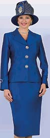 Lily and Taylor 4096 - Womens Silky Twill Skirt Suit With Notch Lapel Jacket