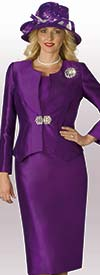 Lily and Taylor 3632 - Skirt Suit With Silky Twill Fabric
