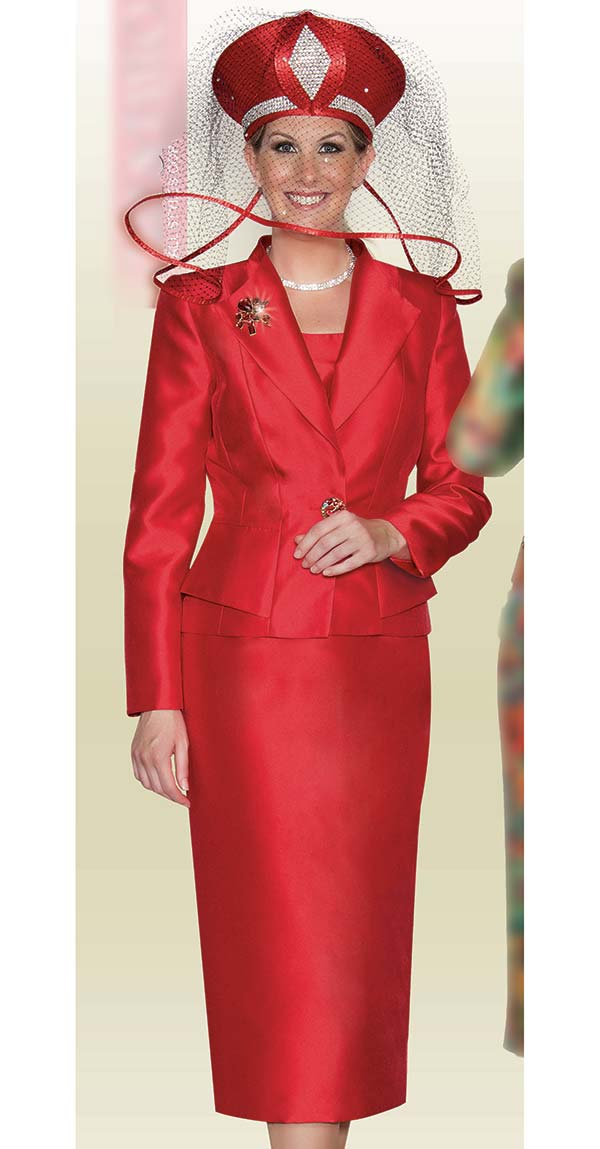 Lily and Taylor 3803 - Skirt Suit With Silky Twill Fabric