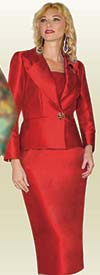 Lily and Taylor 3809 - Womens Skirt Suit With Silky Twill Fabric