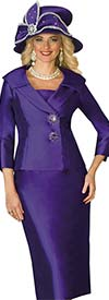 Clearance Lily and Taylor 3961 - Silky Twill Womens Suit With Wide Shawl Lapel