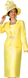 Clearance Lily and Taylor 4109 - Silky Twill Womens Church Suit With Lace