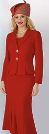 Lily and Taylor 2834 - Two Piece Skirt Suit With Shawl Lapel Jacket