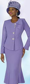 Lily and Taylor 4080 - Womens French Crepe Church Suit With Flared Skirt