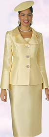 Clearance Lily and Taylor 4107 - Womens Church Suit With Layered Lapels