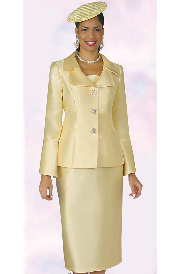 Lily and Taylor 4107 - Womens Church Suit With Layered Lapels