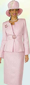 Lily and Taylor 4304 Novelty Fabric Womens Church Suit With Multi Pattern Print