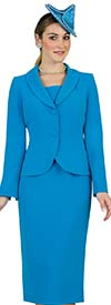Lily and Taylor 4529 - French Crepe Fabric Skirt Set With Shawl Lapel Two Button Jacket