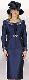 Lily and Taylor 3800 - Three Piece Rhinestone Embellished Womens Chuch Suit