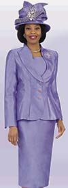 Lily and Taylor 4417 - Womens Church Suit With Pointed Shawl Lapel