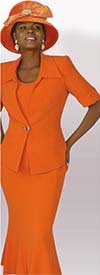 Lily and Taylor 3825 - Crepe Fabric Three Piece Flared Skirt Suit
