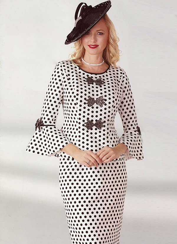 Lily and Taylor 4380 - 2 Piece Novelty Skirt Suit