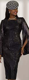 Lily and Taylor 4490 - First Ladies Sheath Cut Church Dress With Sequin Split Bell Sleeve Design