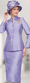 Lily and Taylor 4564 -Two Piece Silky Twill Womens Church Suit With Swan Neckline Design