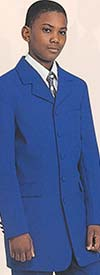 Longstry New York BL-907B Boys Five Button Church Suit With Long Jacket