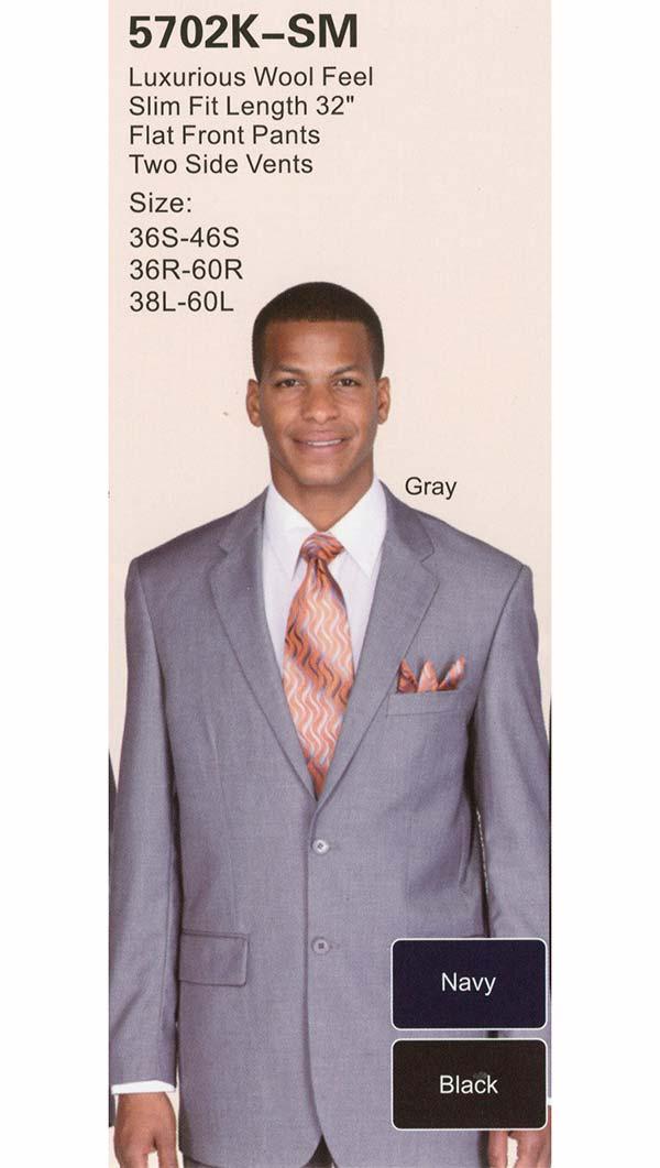 Longstry New York 5702K-SM Slim Fit Church Suit For Men