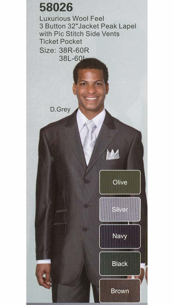 Longstry New York 58026 Mens Church Suit With Ticket Pocket