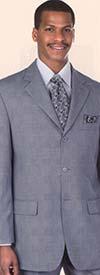 Longstry New York 58030K Mens Window Pane Design Wool Feel Suit