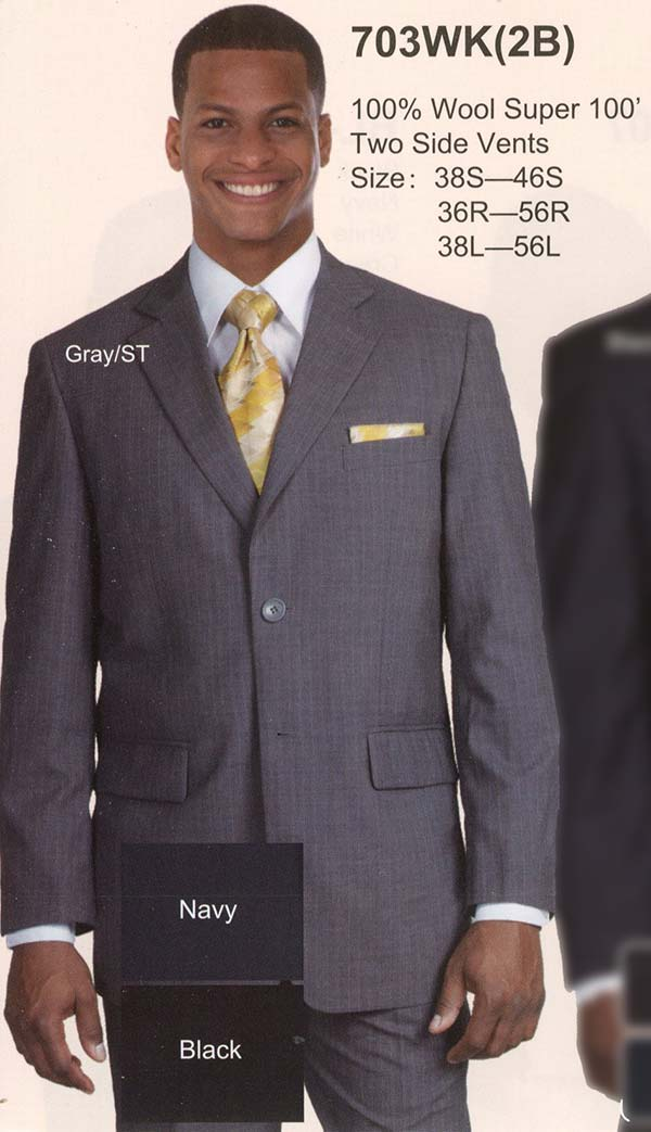 Longstry New York 703WK Mens Wool Suit For Church