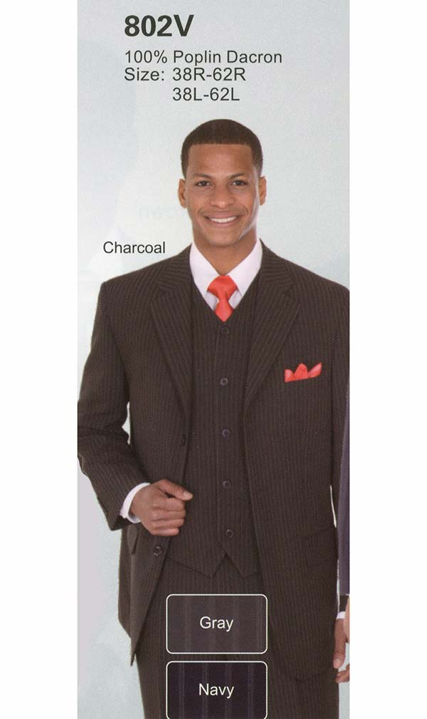 Longstry New York 802V Poplin Dacron Mens Church Suit