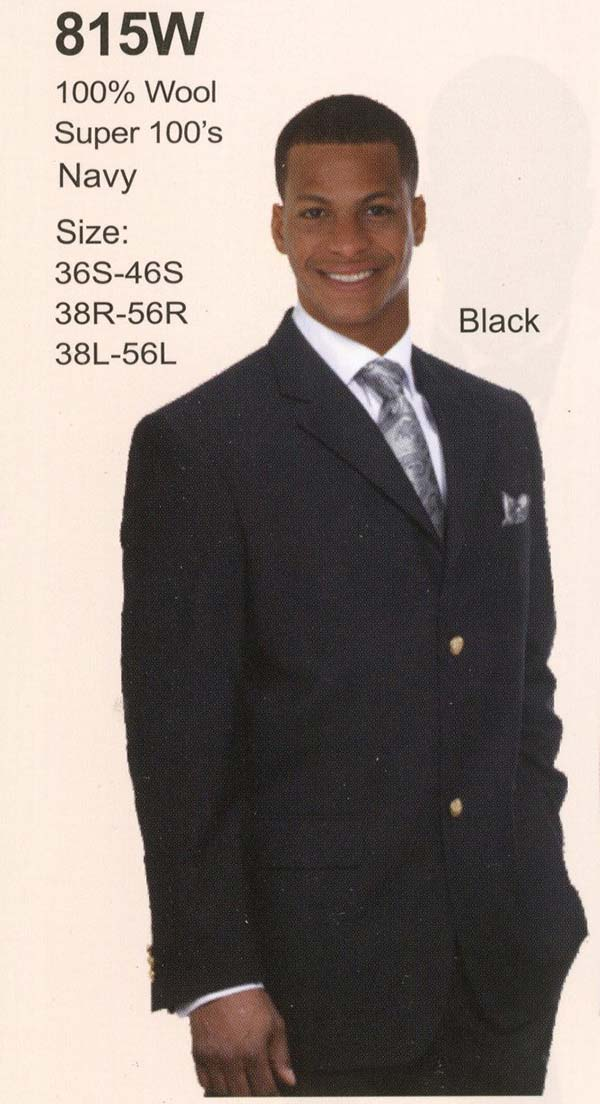 Longstry New York 815W Mens Two Button Wool Suit