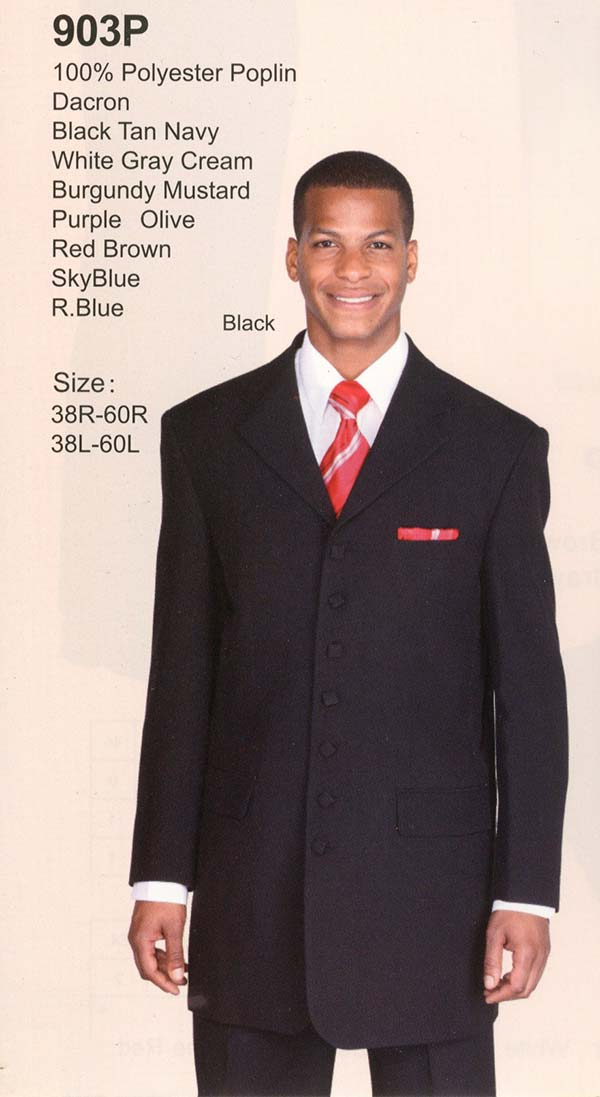 Longstry New York 903P Mens Seven Button Suit For Church