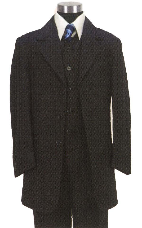 Longstry New York BL-917V Boys Church Suit With Vest