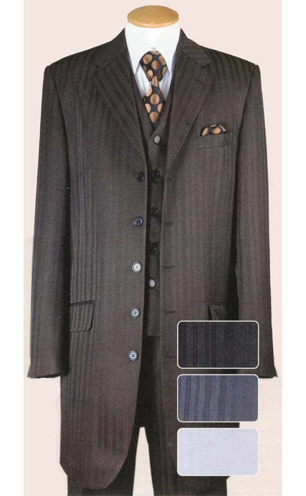 Longstry New York BL29198V Boys Five Button Church Suit With Vest
