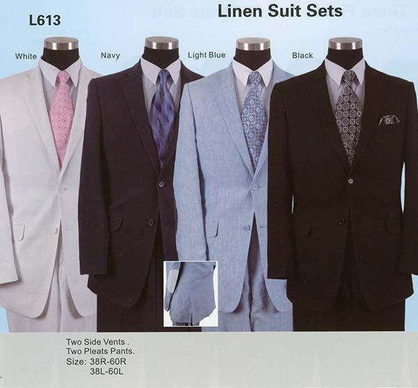 Longstry New York L613 Linen Mens Suit For Church