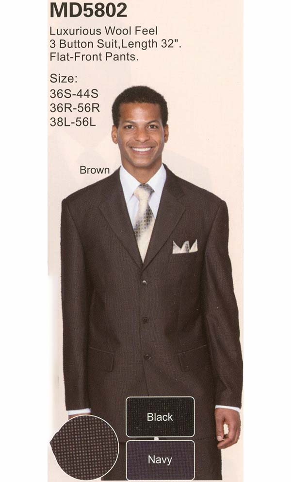Longstry New York MD5802 Three Button Mens Church Suit