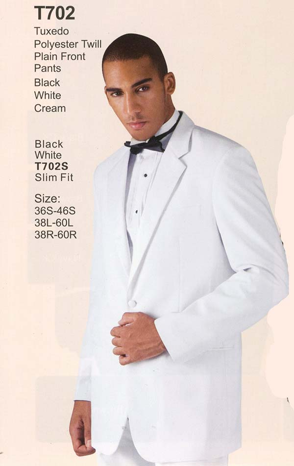 Longstry New York T702 Two Button Twill Tuxedo For Men