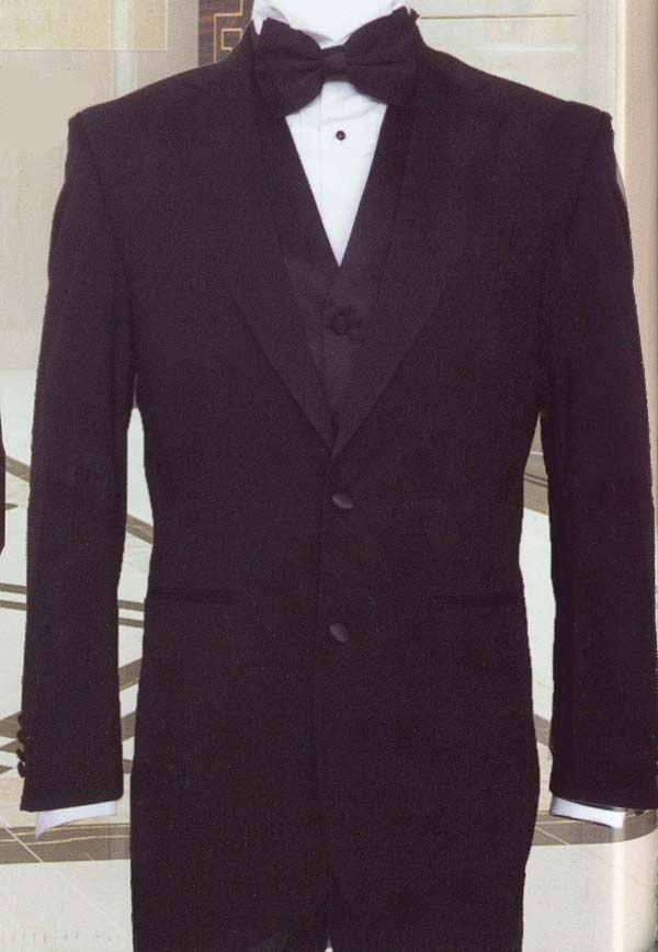 Longstry New York T722V Mens Super Wool Feel Three Piece Tuxedo