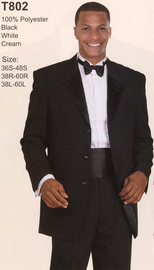 Longstry New York T802 Three Button Tuxedo For Men