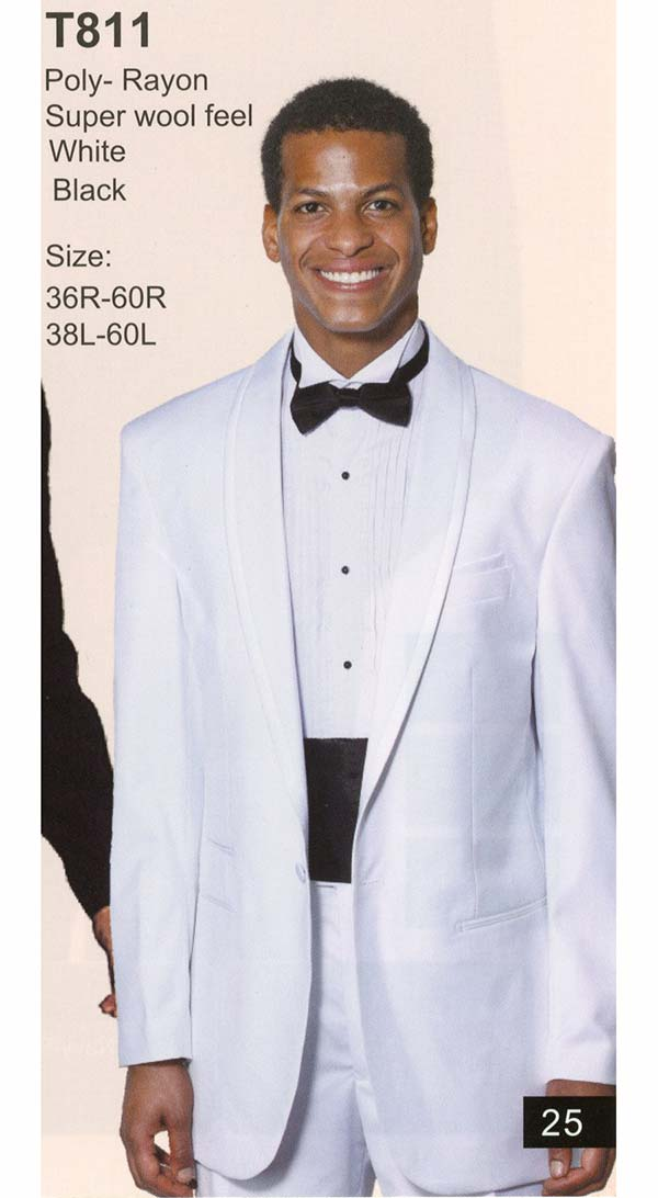 Longstry New York T811 Mens Tuxedo With One Button