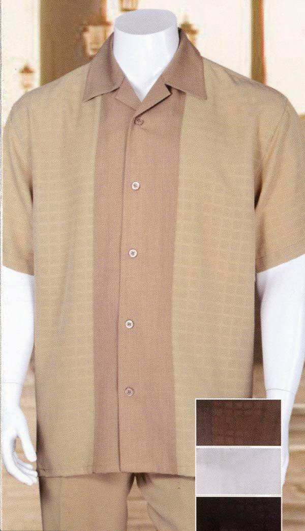 Longstry M2960 Short Sleeve Walking Suit For Men