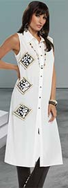Love The Queen 17193 Womens Tunic Dress With Novelty Sequin Details